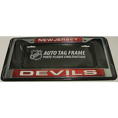 NHL New Jersey Devils Laser Cut Chrome License Plate Frame
