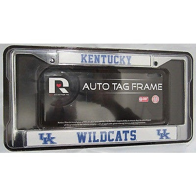 NCAA Kentucky Wildcats Chrome License Plate Frame Thin Letters