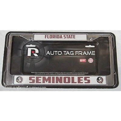 NCAA Florida State Seminoles Chrome License Plate Frame Thick Letters