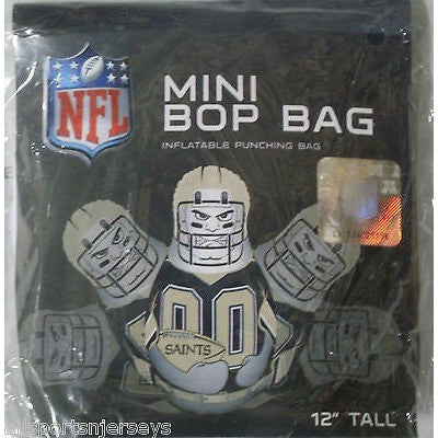 NFL New Orleans Saints 12 Inch Mini Bop Bag by Fremont Die