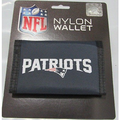 NFL New England Patriots Tri-fold Nylon Wallet with Printed Word Logo