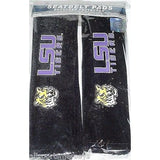 NCAA LSU Tigers Velour Seat Belt Pads 2 Pack by Fremont Die