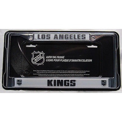 NHL Los Angeles Kings Chrome License Plate Frame Thick Letters