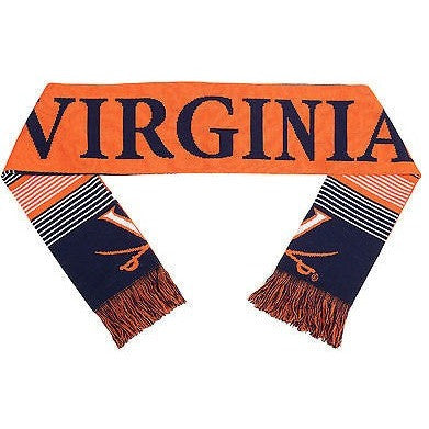 "NCAA 2015 Reversible Split Logo Scarf Virginia Cavaliers 64"" by 7"" FOCO"