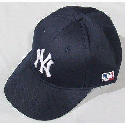 MLB New York Yankees Adult Cap Flat Brim Raised Replica Cotton Twill Hat