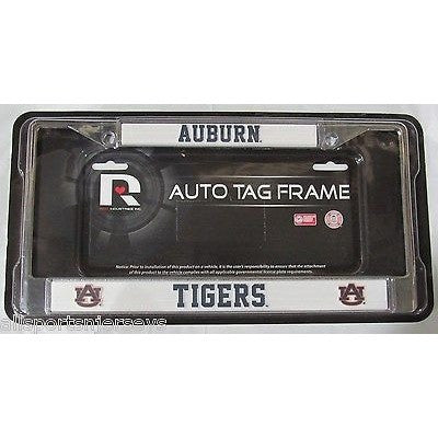 NCAA Auburn Tigers Chrome License Plate Frame Thin Letters