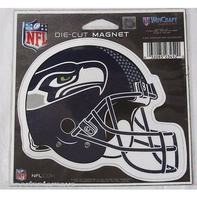 NFL Seattle Seahawks New Helmet Logo 4 inch Auto Magnet by WinCraft