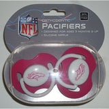 NFL Denver Broncos Pink Pacifiers Set of 2 w/ Solid Shield in Case