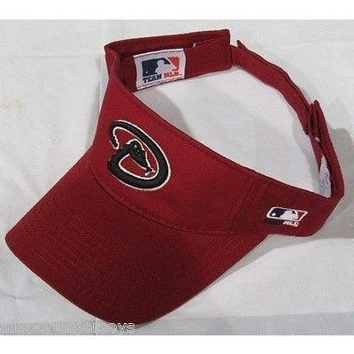 MLB ARIZONA DIAMONDBACKS VISOR COTTON TWILL REPLICA ADJUSTABLE STRAP ADULT