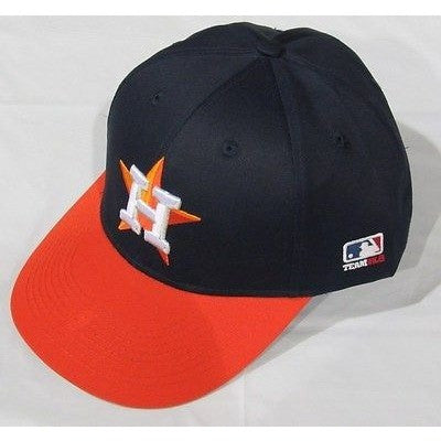 MLB Houston Astros Adult Cap Flat Brim Raised Replica Cotton Twill Hat