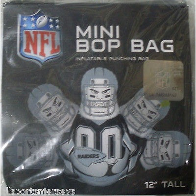 NFL Oakland Raiders 12 Inch Mini Bop Bag by Fremont Die