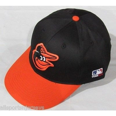 MLB Baltimore Orioles Adult Cap Flat Brim Raised Replica Cotton Twill Hat