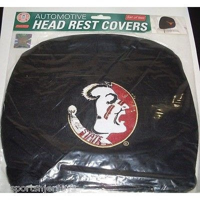 NCAA Florida State Seminoles Headrest Cover Embroidered Old Logo Set of 2 by Team ProMark