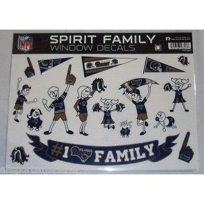 NFL St. Louis Rams Spirit Family Decals Set of 17 by Rico Industries