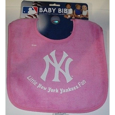 MLB Little New York Yankees Fan Infant Baby Bib All Pink Wincraft