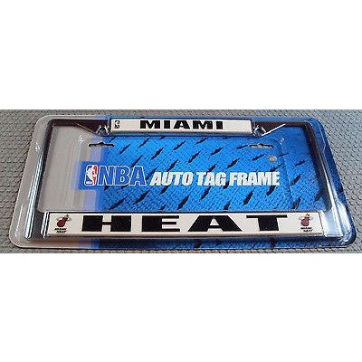 NBA Miami Heat Chrome License Plate Frame Thick Bottom