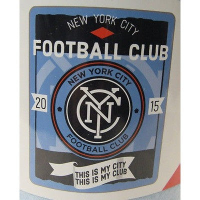 "MLS NEW YORK CITY FOOTBALL CLUB 50""x60"" ROLLED FLEECE BLANKET TEAM LOGO"