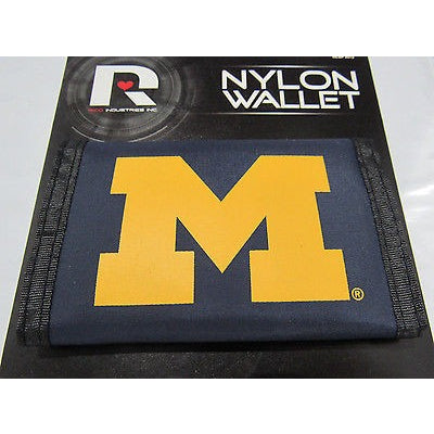 NCAA Michigan Wolverines Tri-fold Nylon Wallet with Printed Logo