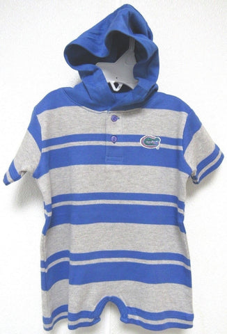 NCAA Florida Gators Logo on Hooded T Romper 6M Two Feet Ahead