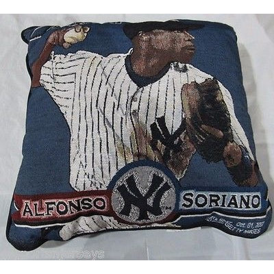 MLB NWT 20x20 PICTURE PILLOW - NEW YORK YANKEES- ALFONSO SORIANO