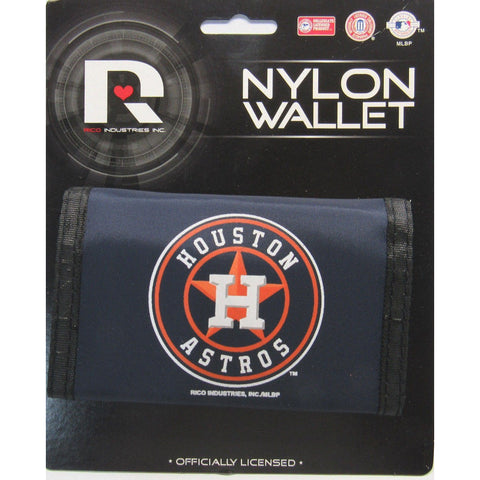 MLB Houston Astros Tri-fold Nylon Wallet with Printed Logo