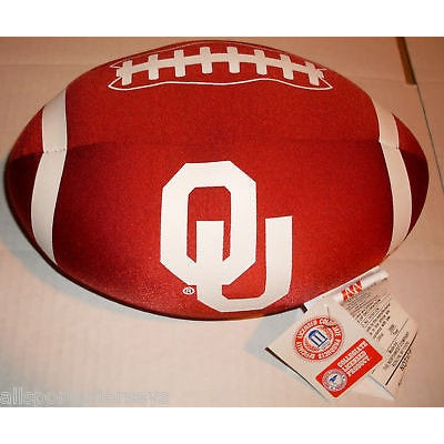 NCAA Spandex Football Shaped Pillows Oklahoma Sooners by Northwest