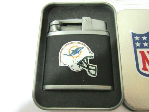 NFL Miami Dolphins Windproof Refillable Butane Lighter w/Gift Box by FSO