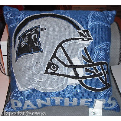 NFL NWT 20x20 JACQUARD PILLOW - CAROLINA PANTHERS - W/NAME