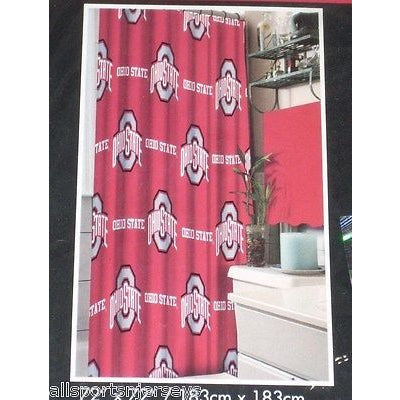 NCAA 72 X 72 Inch Fabric Shower Curtain Ohio State