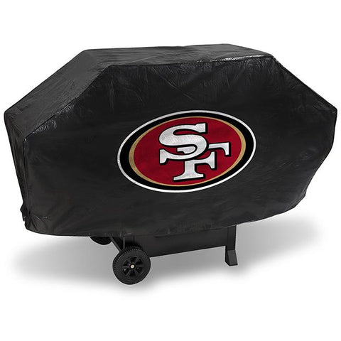 NFL San Francisco 49ers 68 Inch Deluxe Vinyl Padded Grill Cover by Rico Industries