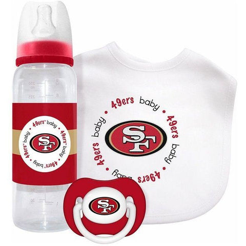 NFL San Francisco 49ers Gift Set Bottle Bib Pacifier by baby fanatic