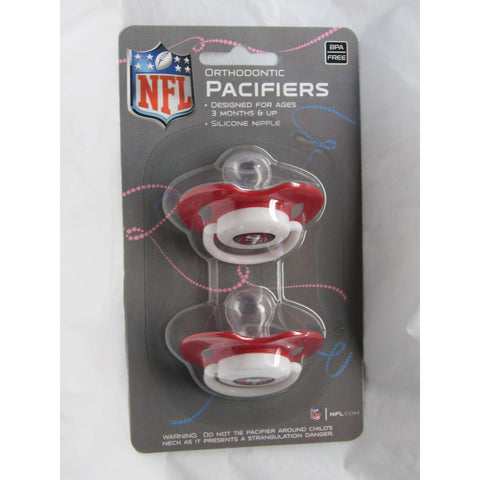 NFL Pacifiers Set of 2 Solid Color Shield w/ Holes on Card by baby fanatic