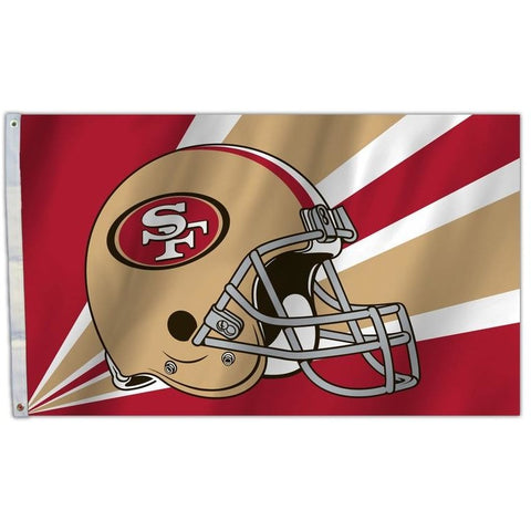 NFL 3' x 5' Team Helmet Flag San Francisco 49ers by Fremont Die