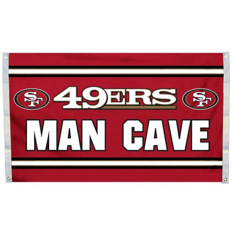 NFL 3' x 5' Team Man Cave Flag San Francisco 49ers