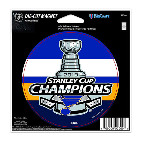 "NHL St. Louis Blues 2019 Stanley Cup Champions 4"" Round Magnet WinCraft"
