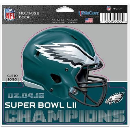 Philadelphia Eagles Super Bowl LII 4.5 x 5.75 Multi-Use Helmet Decal WinCraft