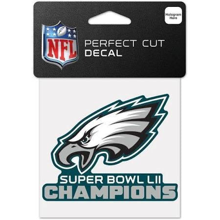 "Philadelphia Eagles Super Bowl LII 3"" x 3.75"" Perfect Cut Decal WinCraft"
