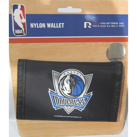 NBA Dallas Mavericks Tri-fold Nylon Wallet with Printed Logo