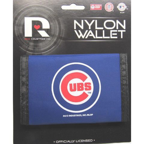 MLB Chicago Cubs Tri-fold Nylon Wallet with Printed Logo