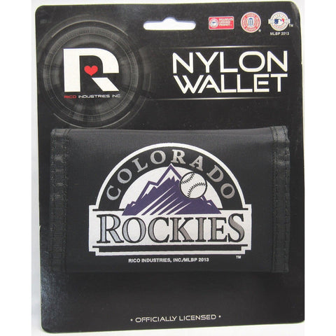 MLB Colorado Rockies Tri-fold Nylon Wallet with Printed Logo