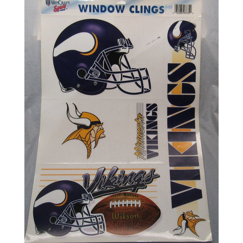 NFL Minnesota Vikings Ultra Decals Window Cling Set of 5 By WINCRAFT