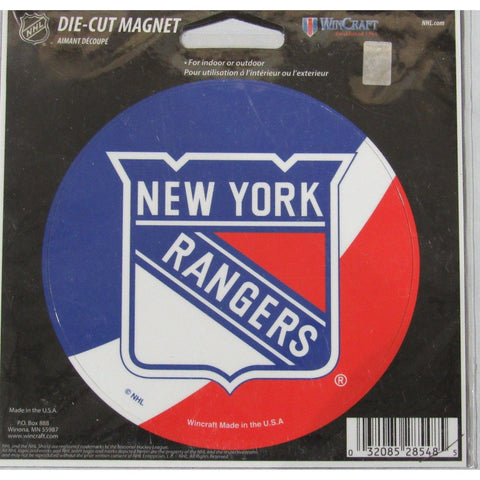 NHL New York Rangers Logo Over Colors 4 inch Auto Magnet by WinCraft