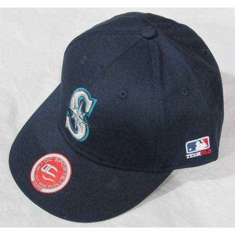 MLB Seattle Mariners Youth Cap Flat Brim Raised Replica Cotton Twill Hat