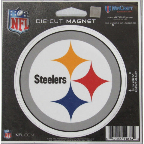 NFL Pittsburgh Steelers Logo 4 inch Auto Magnet by WinCraft