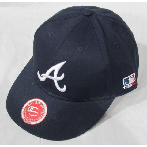 MLB Atlanta Braves Youth Cap Flat Brim Raised Replica Cotton Twill Hat