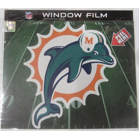 "NFL Miami Dolphins Old Logo Die-Cut Window Film Approx. 12"" by Fremont Die"
