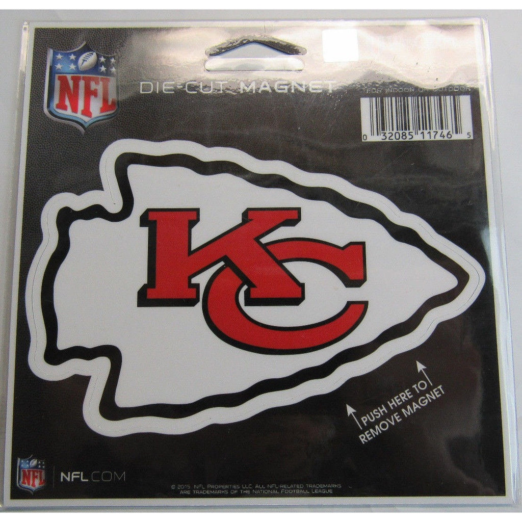 ed077a81dca NFL Kansas City Chiefs Logo 4 inch Auto Magnet by WinCraft – All Sports-N- Jerseys