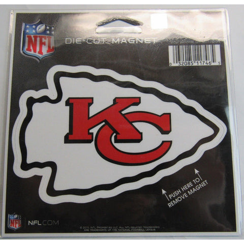 NFL Kansas City Chiefs Logo 4 inch Auto Magnet by WinCraft