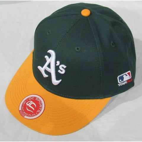 MLB Oakland Athletics A's Youth Cap Flat Brim Raised Replica Cotton Twill Hat