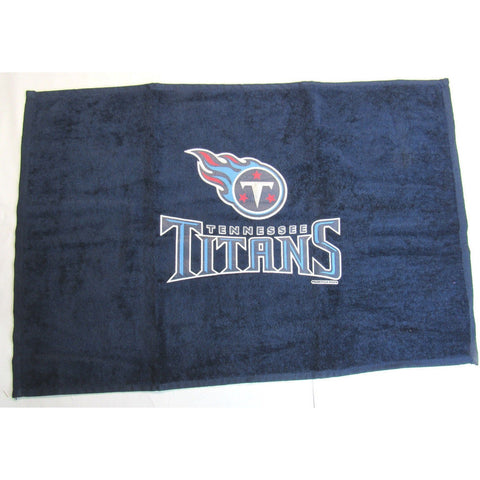 "NFL Tennessee Titans Logo and Name Fan Towel Navy 15"" by 25"" by WinCraft"